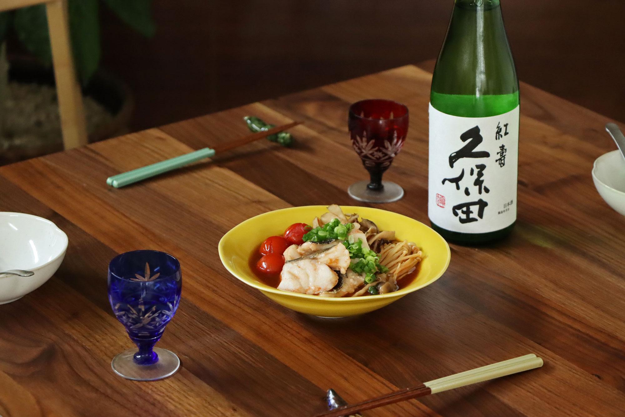 日本酒をもっと楽しむおつまみレシピ|たらときのこの蒸し浸し