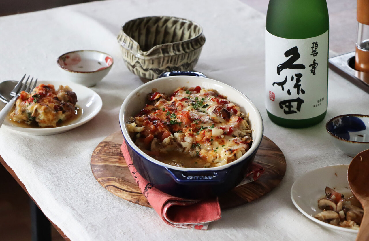 日本酒をもっと楽しむおつまみレシピ|オイルサーディンとれんこんのグラタン風