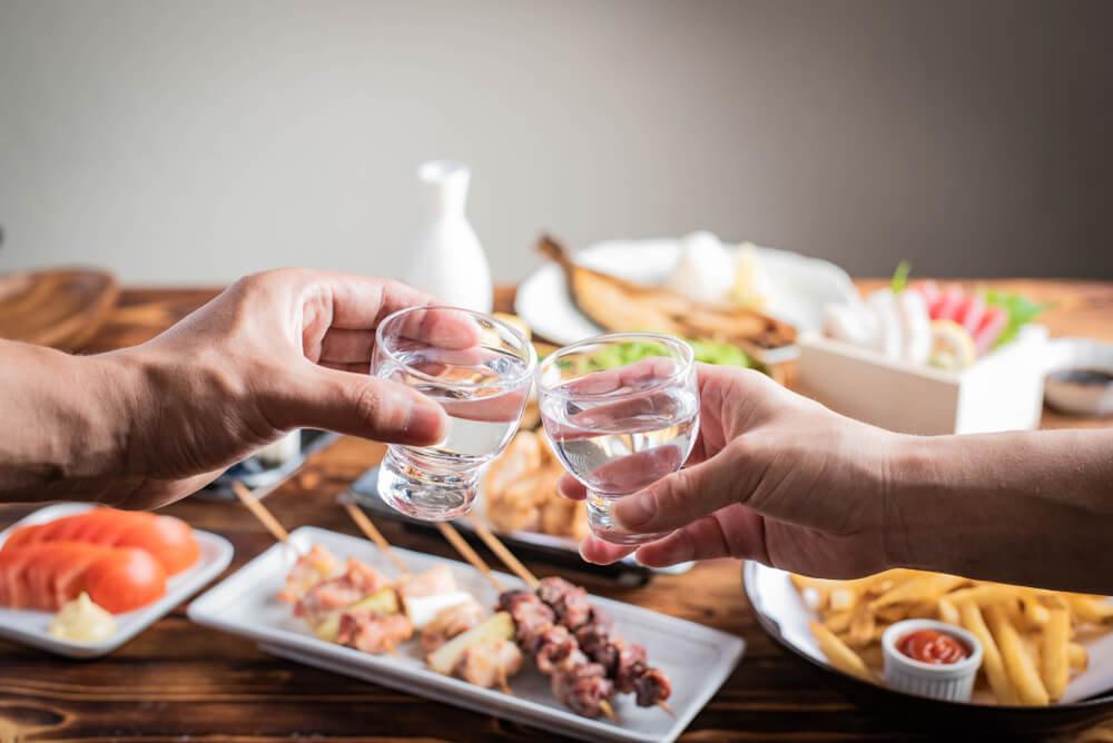 料理と本醸造酒