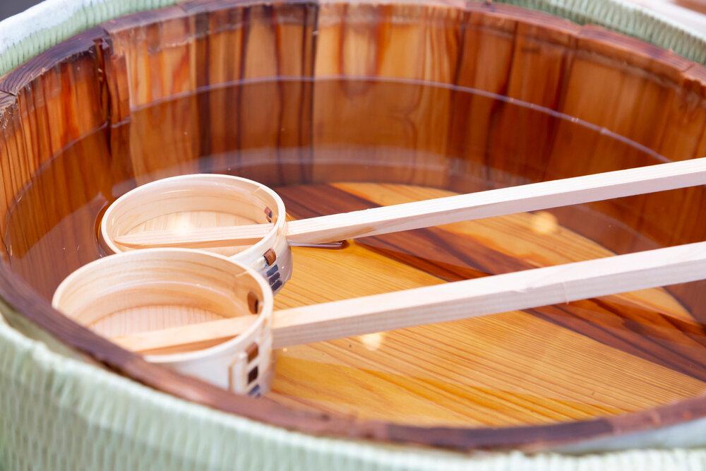 樽酒と柄杓
