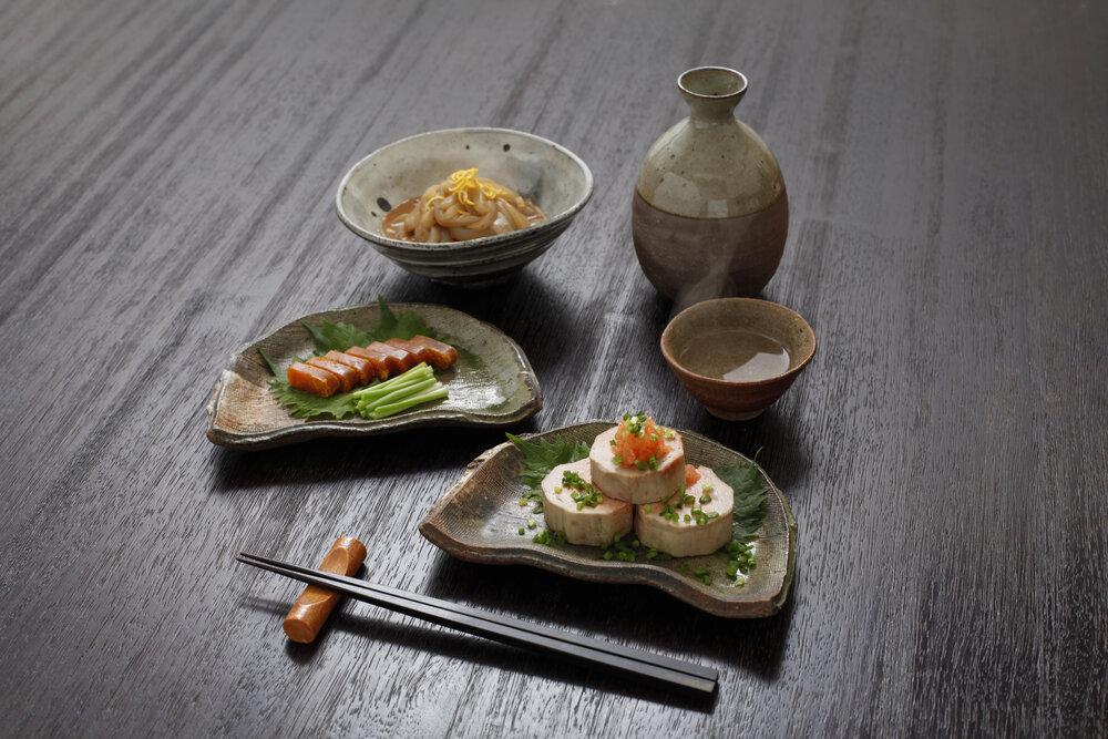 刺身と日本酒