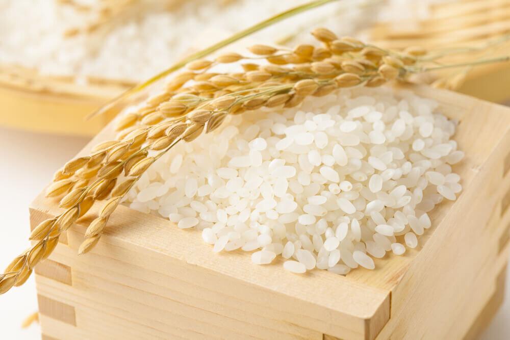 桝に入った米