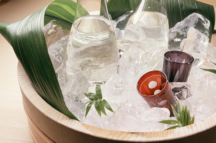 キリッと冷やした日本酒