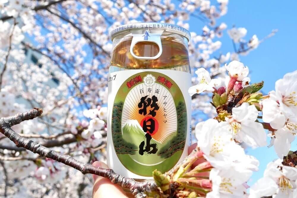 朝日山百寿盃のワンカップ