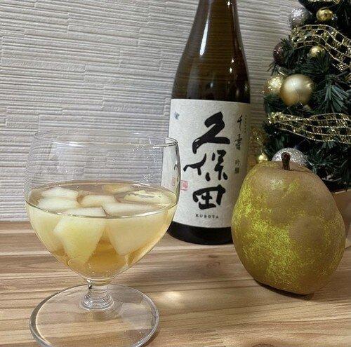 ラ・フランスで日本酒サングリア