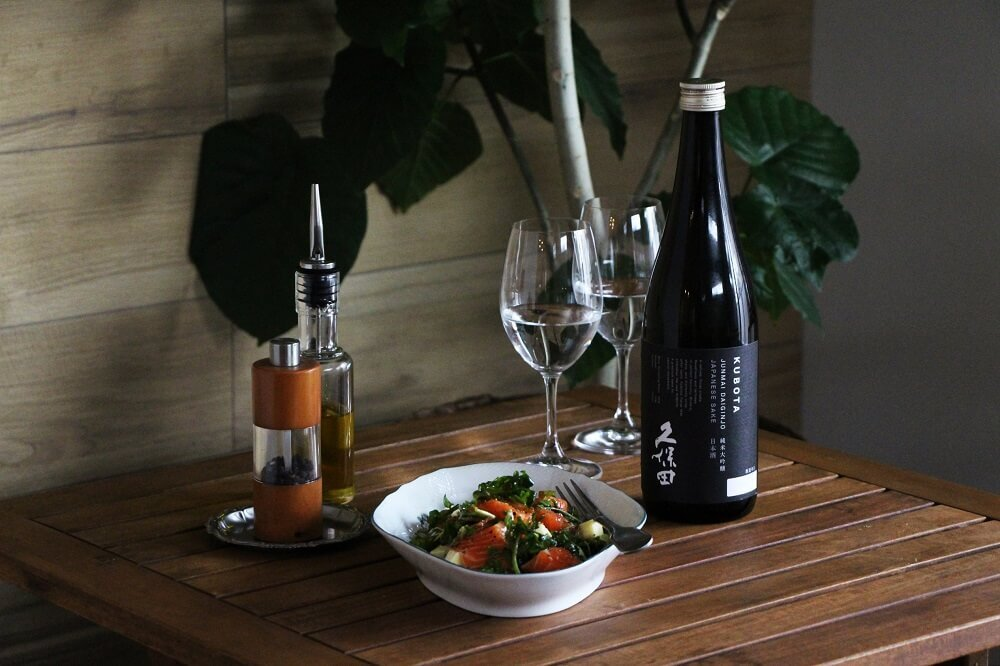 久保田 純米大吟醸と並ぶグラス