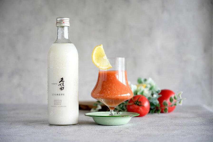 こうじあまざけ×トマトジュース+レモン果汁