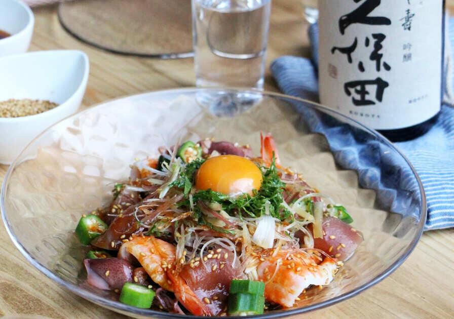 三種薬味の海鮮サラダ