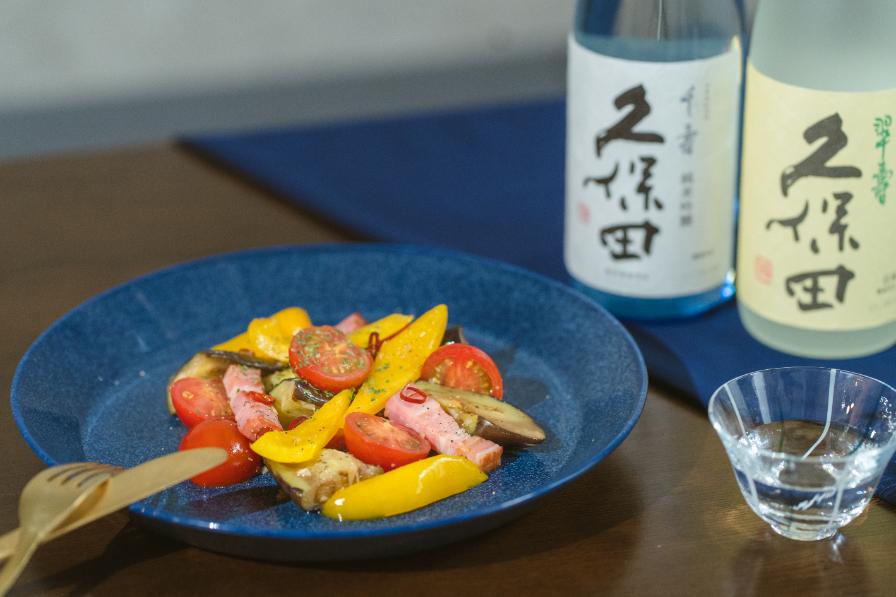 夏野菜のペペロンチーノ炒め