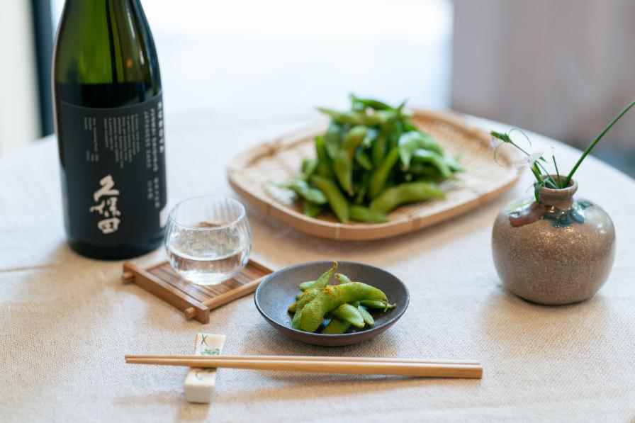 レンチン枝豆+カレーパウダー