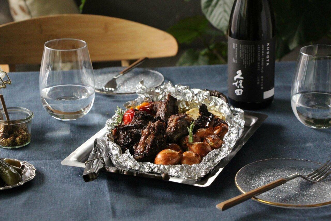 日本酒をもっと楽しむおつまみレシピ|スペアリブのくるみバター焼き - KUBOTAYA