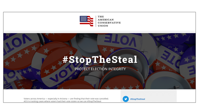 ACUの #StopTheSteal サイト