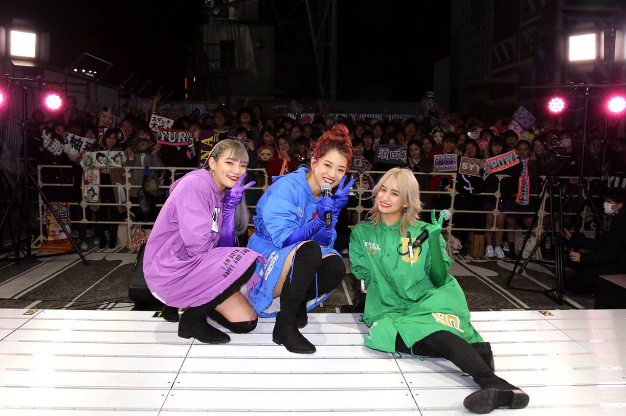 スダンナユズユリー・初のPOP UP STOREオープンを記念しミニライブを敢行!