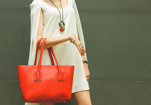 Fashionable beautiful red h...