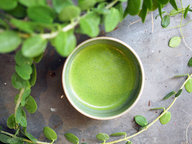 抹茶に含まれる食物繊維がより腸の働きを活発にすると言わ...
