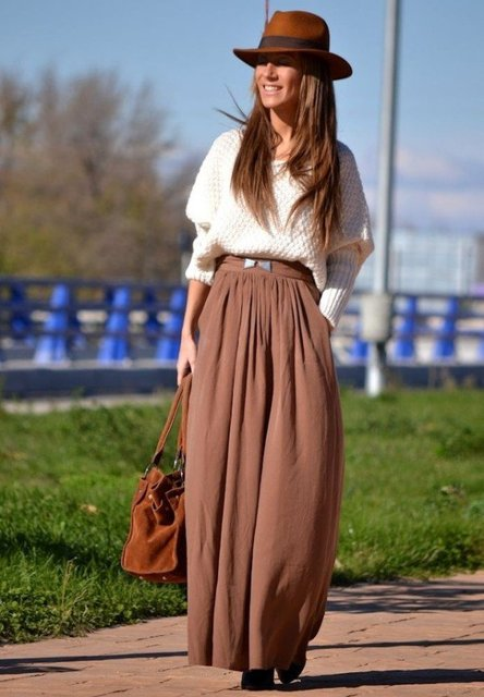 30 Beautiful Maxi Skirt For This Fall | ALL FOR FASHION DESIGN (18752)