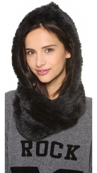 Jocelyn Rabbit Fur Hood Infinity Scarf | SHOPBOP (20359)