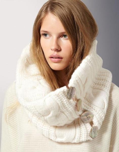 Как носить снуд. Использование шарфа-снуда в вашем образе. Шарф-снуд - тренд этого сезона. Позволит сделать ваш образ ярким и модным. (20388)