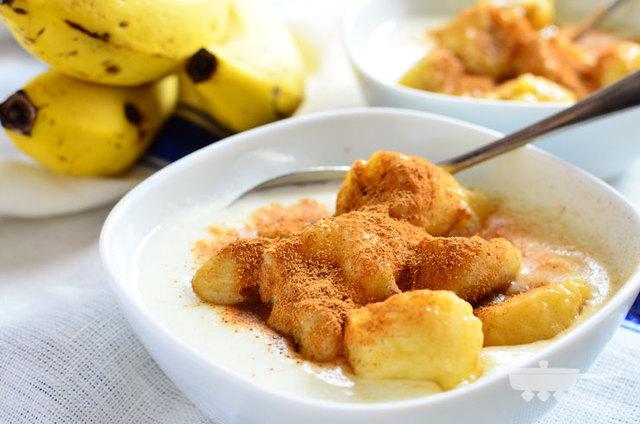 便秘改善美活朝食!ホットバナナヨーグルト | レシピサイト『つくおき』 (21678)