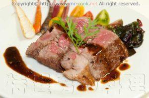 こちらは「特選・男の料理」より「熊本の赤牛阿蘇王のステ...