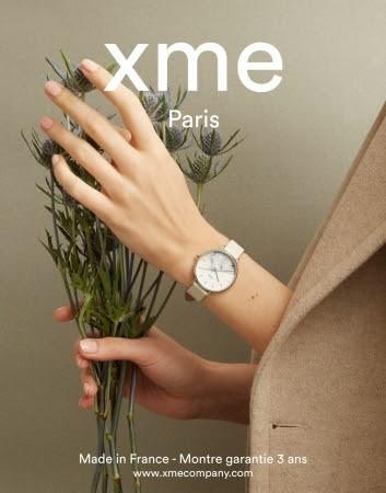 フランスの腕時計ブランド「XME」(エックスミー)から、花の名が付いたエレガントなデザインの新作発売