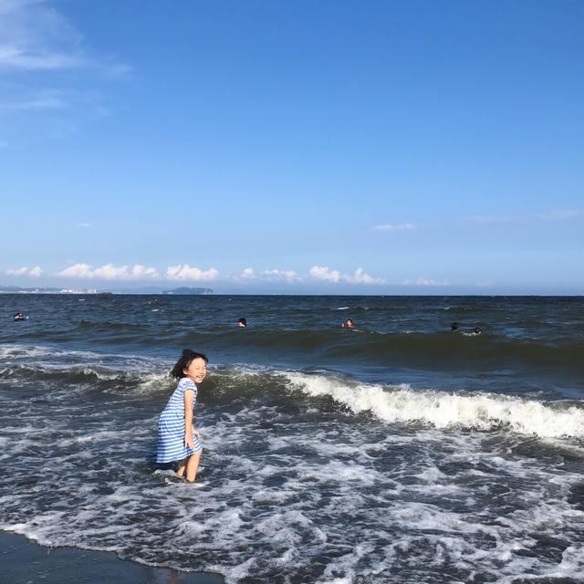 生まれて初めて、海に入れるようになった!