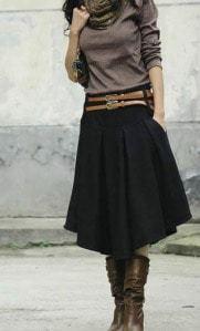 Класика – черна пола , с какво да съчетая черна пола?   Дамски моден блог, мода за едри жени (44396)