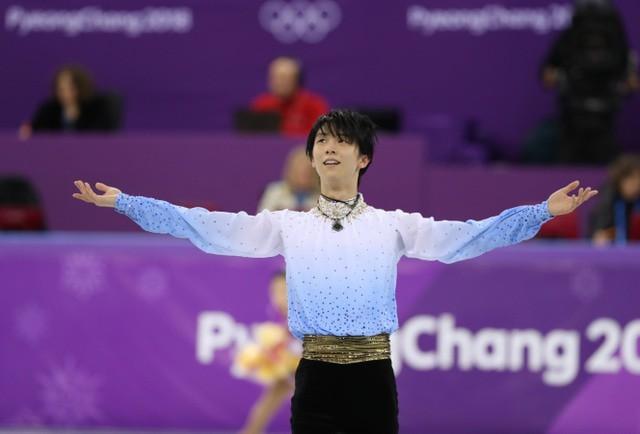 平昌冬季五輪フィギュアスケート男子ショートプログラムで...