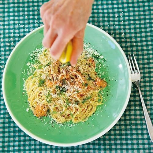 鮭のレモンクリームパスタ|レシピ|ゆとりの空間 (46741)
