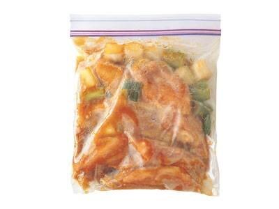 凍ったまま調理に使う、自家製冷凍食品です。下味の調味料...