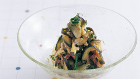 なすのおいしさを旬の香味野菜が、引き立てます。