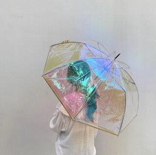 「オーロラ傘」で雨の日でも気分をあげて過ごしたい☔