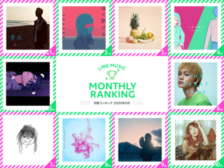 LINE MUSIC 2020年5月の月間ランキングを発表