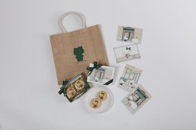イタリアの老舗カフェ×キティちゃんのオトナ可愛いジュートバッグセット♪