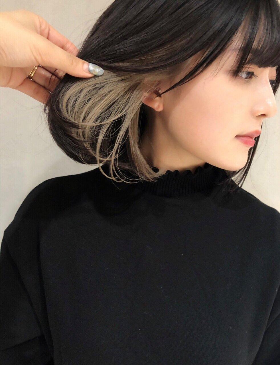 黒髪×インナーカラーで隠れオシャレを目指そう