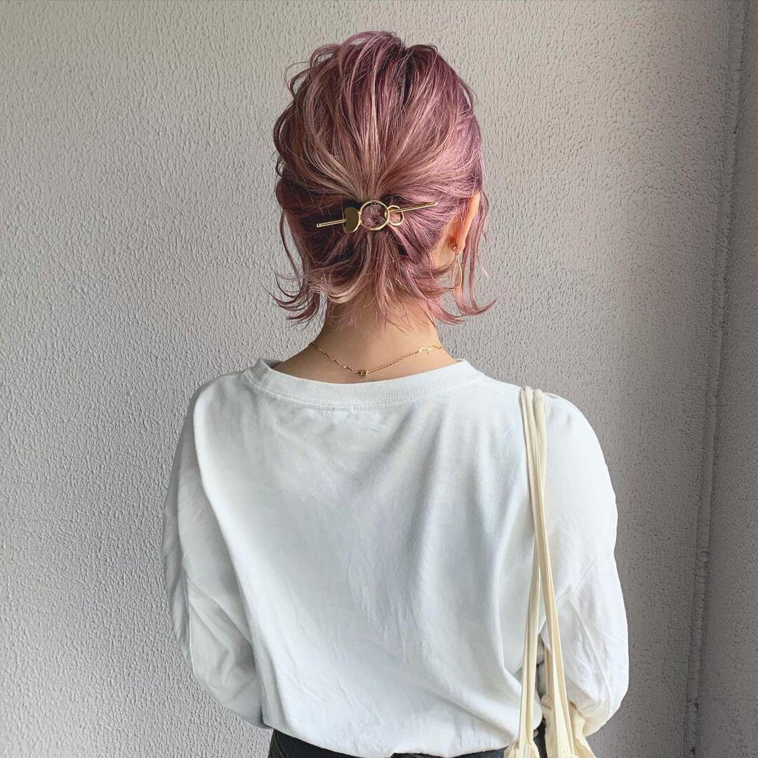 ショート&ボブヘアの方向け♡可愛いひとつ結びのヘアアレンジ方法
