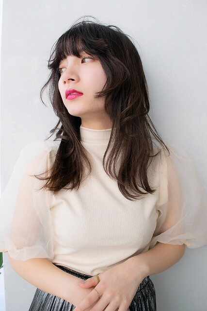 ANGELICA ウルフレイヤー イルチャバング 韓国風ヘア