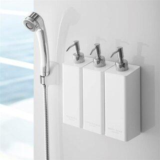 ●マグネットがつく浴室壁面に取り付けられるディスペンサ...