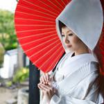 【白無垢】の被り物【角隠し・綿帽子】似合うヘアスタイル☆