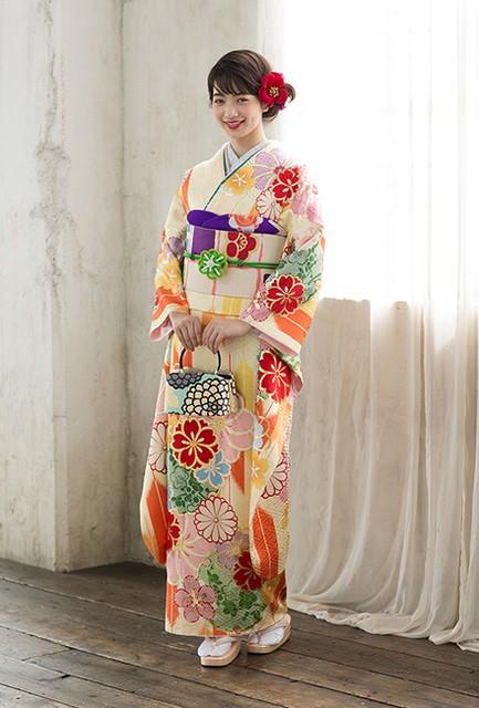 NO.1740 正絹 京友禅 成人式の振袖販売、振袖レンタルの京都きもの友禅 (2388)