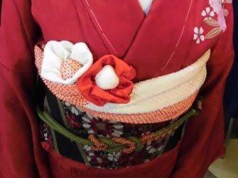 ★帯揚げのお花の作り方★ ひめ吉半襟・デザイン日記 (3291)