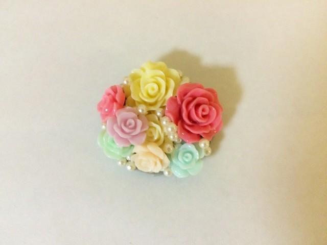 ダイソーの薔薇パーツで、可愛いプチプラ帯留作り方|ayaaya's着物コーディネート (3295)
