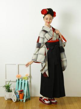 袴、[卒業式 袴 レンタル]【モダンアンテナ】|e-きものレンタル (3862)