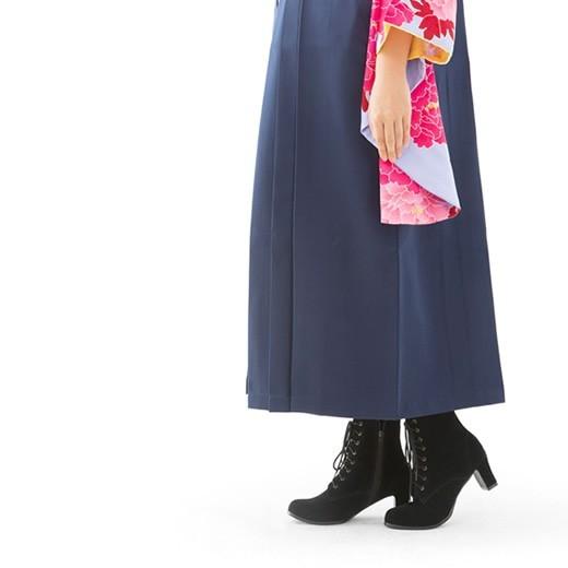【楽天市場】★送料無料★レトロ調 編み上げ 袴ブーツ (3874)