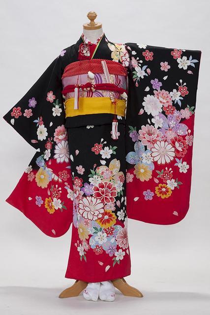 七五三 7歳のお祝い用四つ身 正絹振袖衣装 | 写真撮影なら市川・浦安・船橋の写真館スタジオシータ (5146)