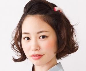 浴衣のヘアアレンジ ボブ 編   京都着物レンタルwargo (9938)