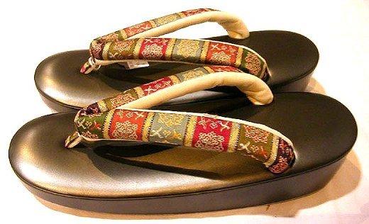 龍村の草履3 唐花雙鳥長斑錦 きもの人 最高級着物通販ショップ40歳代働く女性の皆様へ (11842)