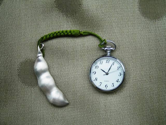 えっ、開くの?銀の枝豆香水瓶の根付 - 裏地桂子のハッピーブログ「お福分け」 (12027)