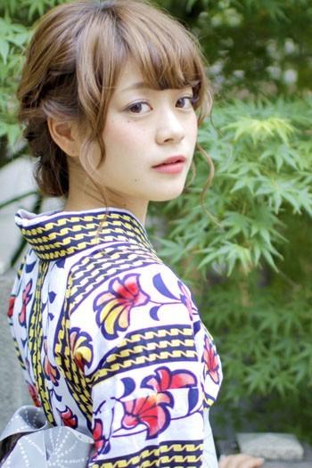 大人かわいい★ルーズフェミニンアレンジ【笹井】 浴衣着付け 株式会社フォーサイス (12497)