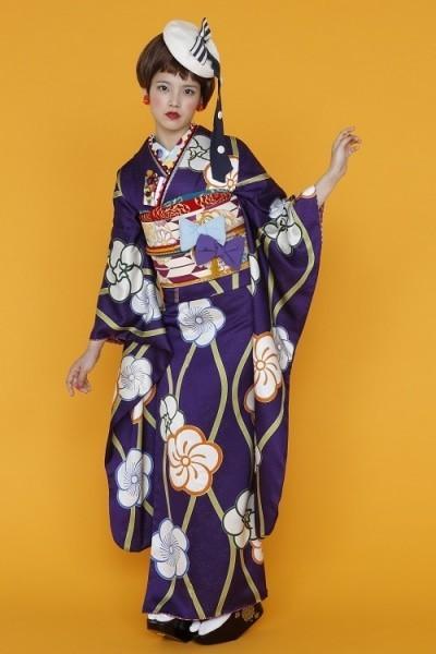 mimore紫retropop(No: 14334) / きらら西田きもの工芸 奈良大和西大寺駅前店   My振袖 (13658)